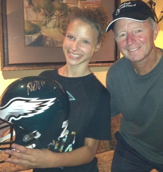 Anna Bennett wins DeSean Jackson helmet