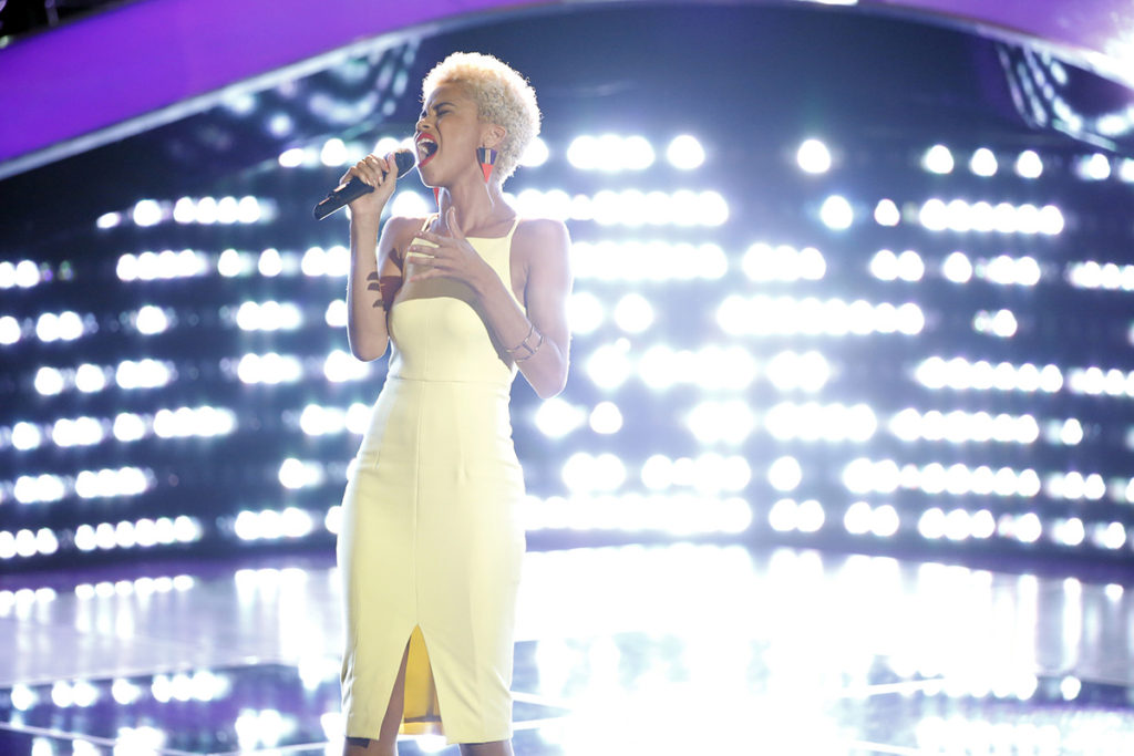 "THE VOICE -- ""Blind Auditions"" -- Pictured: Nadjah Nicole -- (Photo by: Paul Drinkwater/NBC)"